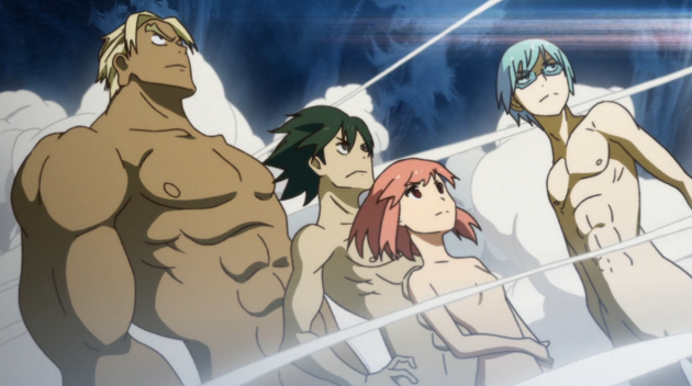 Only in Kill la Kill is standing around naked this cool.