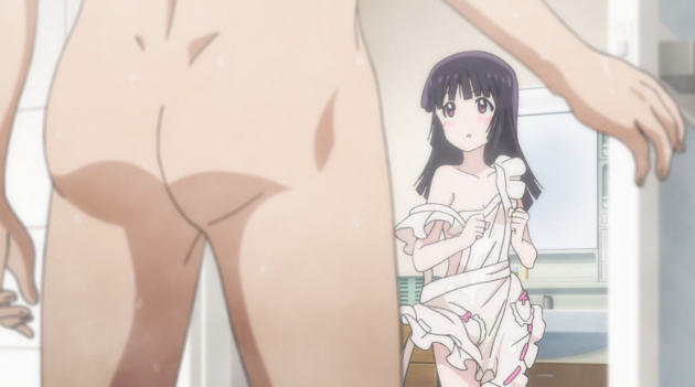Nothing says this is a male oriented fanservice show like a dudes butt.