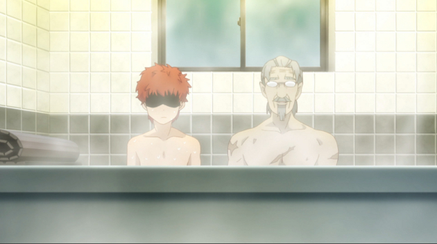 I'm sure you were expecting lolis making out. Here are two dudes in a tiny bathtub instead.